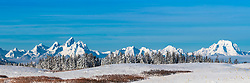 Teton Panorama from Towgotte Pass, Jackson Hole, Wyoming.   <br /> <br /> This is a huge file and can be printed at 10 foot wide at 163-dpi.   Order panoramas directly from me.