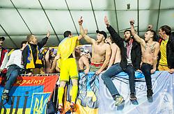 Artem Fedetskiy (UKR) and fans of Ukraine celebrate after the UEFA EURO 2016 Play-off for Final Tournament, Second leg between Slovenia and Ukraine, on November 17, 2015 in Stadium Ljudski vrt, Maribor, Slovenia. Photo by Vid Ponikvar / Sportida