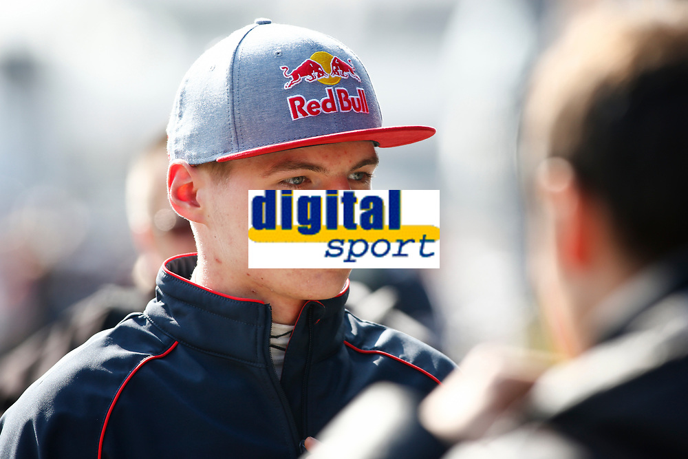 VERSTAPPEN max (ned) toro rosso str10 renault ambiance portrait during Formula 1 winter tests 2015 at Barcelona, Spain from February 19th to 22nd. Photo DPPI / Florent Gooden.