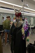 DANIEL LISMORE, Modelling Sorapol clothes  in Soho, 19 September 2016