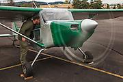 Murphy Rebel during engine test.