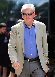 """Crystal Palace Manager Roy Hodgson arrives at Madejski Stadium during the pre-season friendly match at the Madejski Stadium, Reading. PRESS ASSOCIATION Photo. Picture date: Saturday July 28, 2018. See PA story SOCCER Reading. Photo credit should read: Mark Kerton/PA Wire. RESTRICTIONS: EDITORIAL USE ONLY No use with unauthorised audio, video, data, fixture lists, club/league logos or """"live"""" services. Online in-match use limited to 75 images, no video emulation. No use in betting, games or single club/league/player publications."""