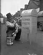 Corporation Litter Bins at the mechanical section yard, Dublin.27/06/1959