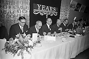 07/02/1963<br /> 02/07/1963<br /> 07 February 1963<br /> Brittain Dublin Ltd. Golden Jubilee reception and Dinner at the Hibernian Hotel, Dublin. Picture shows the top table during the meal.