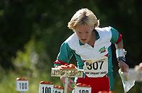 Orientering, 21. juni 2002. NM sprint. Ingrid K. Bronebakk, Larvik.