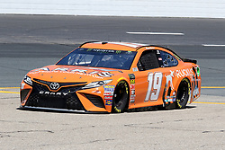 July 20, 2018 - Loudon, NH, U.S. - LOUDON, NH - JULY 20: Daniel Suarez, driver of the #19 ARRIS Toyota during  practice for the Monster Energy Cup Series Foxwoods Resort Casino 301 race on July, 20, 2018, at New Hampshire Motor Speedway in Loudon, NH. (Photo by Malcolm Hope/Icon Sportswire) (Credit Image: © Malcolm Hope/Icon SMI via ZUMA Press)