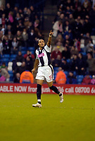 Photo: Leigh Quinnell.<br /> West Bromwich Albion v Manchester City. The Barclays Premiership. 10/12/2005. Diomansy Kamara celebrates his goal for West Brom.