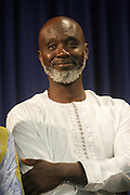 September 19, 2012- Queens, New York:  Former Prisoner Tamsir Jasseh at Jesse Jackson's Press Conference as a free man after being held as a prisoner in the Gambia, West Africa. He and Former Prisoner Amadou Scattred Janneh, a former Professor at the University of Tennessee, who holds dual US Citizenship with the Gambia, was serving a life sentence for Treason. In addition to him, Tamsir Jessah, a U.S Citizen and former U.S. Military Veteran with dual citizenship with the West African nation was also serving a twenty-year sentence for Treason. With a face-to-face appeal by Rev. Jesse L. Jackson, with Yayha Jammeh, President of The Gambia, an agreement was made to release the two American citizens into Rev. Jackson's custody who allow them to return to the United States with Jackson Tuesday night.  The two men returned to the U.S. by plane with Rev. Jackson from The Gambia to joyfully grateful waiting family members. In addition, President Jammeh has agreed to extend the moritorium on executions indefinitely, marking a significant gain for Human Rights in the West African Nation on September 19, 2012. (Terrence Jennings)