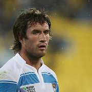 Marcelo Bosch, Argentina, during the Argentina V Scotland, Pool B match at the IRB Rugby World Cup tournament. Wellington Regional Stadium, Wellington, New Zealand, 25th September 2011. Photo Tim Clayton...