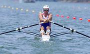Atlanta, United States of America., GBR M1X, Peter HAINING,1996 Olympic Regatta, Lake Lanier, Gainesville. Georgia. [Mandatory Credit: Peter Spurrier: Intersport Images]