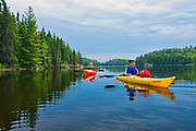 Kayaks on Blindfold Lake<br />