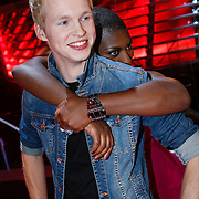 NLD/Amsterdam/20121130 - 4e liveshow The Voice of Holland 2012, Johannes Rypma en Maame Joses