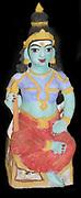 The Hindu god Vishnu, represented as Lakshmi (his consort). small statuette figure from early 20th Century India.