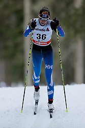 13.12.2014, Davos, SUI, FIS Langlauf Weltcup, Davos, 10 km, Frauen, im Bild Laura Mononen (FIN) // during Cross Country, 10km, ladies at FIS Nordic world cup in Davos, Switzerland on 2014/12/13. EXPA Pictures © 2014, PhotoCredit: EXPA/ Freshfocus/ Christian Pfander<br /> <br /> *****ATTENTION - for AUT, SLO, CRO, SRB, BIH, MAZ only*****