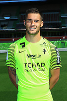 Thomas Didillon poses for a portrait during the Metz squad photo call for the 2016-2017 Ligue 1 season on September 15, 2016 in Metz, France<br /> Photo : Fred Marvaux / Icon Sport