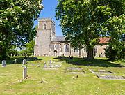 Village parish church of Saint Andrew, Wickham Skeith, Suffolk, England, UK