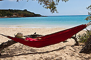 Hammock on La Playuela beach at Cabo Rojo wildlife preserve Puerto Rico