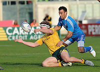 Florence, Italy -In the photo Orquera opposed by Hooper.Artemio Franchi stadium in Florence Rugby test match Cariparma.Italy vs Australia. (Credit Image: © Gilberto Carbonari).