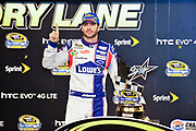 May 19, 2012: NASCAR Sprint All-Star Race, Jimmie Johnson, Hendrick Motorsports, hat dance , Jamey Price / Getty Images 2012 (NOT AVAILABLE FOR EDITORIAL OR COMMERCIAL USE