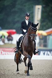 Hundstuen Solberg Selina, (DEN), Atterupgaards Capirossi<br /> First Qualifier 6 years old horses<br /> World Championship Young Dressage Horses - Verden 2015<br /> © Hippo Foto - Dirk Caremans<br /> 07/08/15