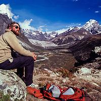 Jay Jensen in the Dzongla Valley, Khumbu region, Nepal.