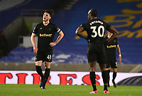Football - 2020 / 2021 Premier League - Brighjton & Hove Albion vs West Hame United - Amex Stadium<br /> <br /> West Ham United's Declan Rice dejected as Brighton & Hove Albion's Danny Welbeck scores the opening goal .<br /> <br /> COLORSPORT