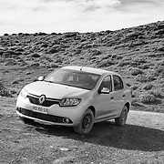 My Renault Symbol rental that did a fine job on the many gravel roads in the Torres Del Paine region.