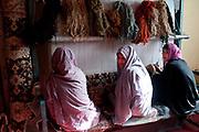 Afghanistan. Herat Women's prison - weaving workshop