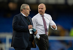 LIVERPOOL, ENGLAND - Monday, September 13, 2021: Burnley's manager Sean Dyche before the FA Premier League match between Everton FC and Burnley FC at Goodison Park. (Pic by David Rawcliffe/Propaganda)