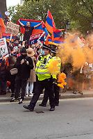 Stop the Armenian Genocide protest Downing Street london 10th oct 2020 photo Mark Anton Smith