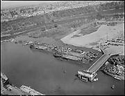 "Ackroyd 00068-13 ""Swan Island aerials. April 22, 1946"" ship dismantling"