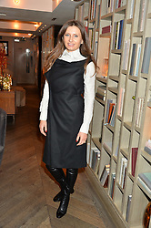 LONDON, ENGLAND 2 DECEMBER 2016: <br /> Kasia Kurylin at a breakfast attended by a host of influencers, press and VIPs to celebrate the official launch of EVARAE the new British luxury resort wear brand, held at The Hari Hotel, 20 Chesham Place, London.  England. 2 December 2016.