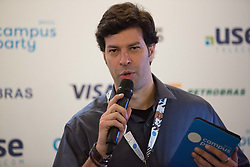 January 30, 2018 - Sao Paulo, Sao Paulo, Brazil - TONICO NOVAES, CEO of Campus Party Brazil, participates in a press conference, at Anhembi Park, in Sao Paulo, Brazil. The meeting takes place until February 4, and should receive the visit of about 120 thousand people. (Credit Image: © Paulo Lopes via ZUMA Wire)
