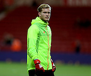 Loris Karius of Liverpool warms up before the English Premier League match at the Riverside Stadium, Middlesbrough. Picture date: December 14th, 2016. Pic Simon Bellis/Sportimage