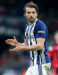 West Bromwich Albion's Jay Rodriguez during the Premier League match at the Vitality Stadium, Bournemouth.