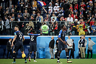 Paul Pogba, Olivier Giroud of France celebrate after winning the 2018 FIFA World Cup Russia, Semi Final football match between France and Belgium on July 10, 2018 at Saint Petersburg Stadium in Saint Petersburg, Russia - Photo Thiago Bernardes / FramePhoto / ProSportsImages / DPPI