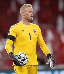 Kasper Schmeichel  (Danmark) under UEFA Nations League kampen mellem Danmark og Belgien den 5. september 2020 i Parken, København (Foto: Claus Birch).