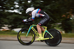 Nora Jencuova (SVK) at the 2020 UEC Road European Championships - Junior Women ITT, a 25.6 km individual time trial in Plouay, France on August 24, 2020. Photo by Sean Robinson/velofocus.com