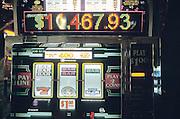 slot machine close up Las Vegas