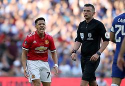 Manchester United's Alexis Sanchez vents his frustration