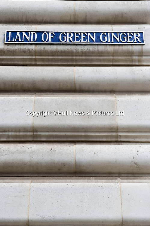 27 August 2014 Images of Kingston Upon Hull, East Yorkshire. <br /> The Land of Green Ginger in Hull's old town.<br /> Picture: Sean Spencer/Hull News & Pictures Ltd<br /> 01482 772651/07976 433960<br /> www.hullnews.co.uk   sean@hullnews.co.uk