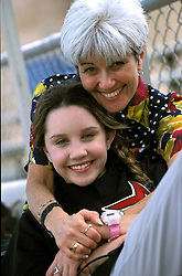 Mar 10, 2000; Orlando, FL, USA; Actress AMANDA BYNES star of 'Big Fat Liar' and Nickelodeon's 'The Amanda Show' shares a moment with her mom Lynn who accompanied her on location whilst filming a segment for GAS (Games and Sports for Kids) on baseball Spring training..  (Credit Image: Stan Godlewski/ZUMAPRESS.com)