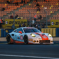 #86, Gulf Racing, Porsche 911 RSR(991), driven by: Michael Wainwright, Ben Barker, Nick Foster on 18/06/2017 at the 24H of Le Mans, 2017