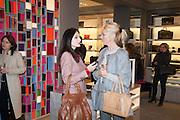 YASMINE MILLS; TAMARA BECKWITH, Smythson Sloane St. Store opening. London. 6 February 2012.