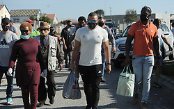 South Africa - Cape Town - 7 June 2020 - Bryan Habana, Siya Kolisi and a few of their friends from Pick n Pay helped the community around Masiyile High in Khayelitsha with food parcels. Photographer: Armand Hough/African News Agency(ANA)