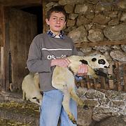 Ilija Traikovski (15) at his grandmother's barn in Dolno Dupeni, FYR  Macedonia