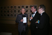 Edward Ruscha and Stefan Ratibar. Royal Academy Annual dinner to celebrate the opening of the Summer exhibition. Royal Academy. Piccadilly. London. 1 June 2005.  ONE TIME USE ONLY - DO NOT ARCHIVE  © Copyright Photograph by Dafydd Jones 66 Stockwell Park Rd. London SW9 0DA Tel 020 7733 0108 www.dafjones.com
