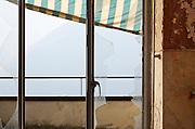 abandoned building, window, broken glass