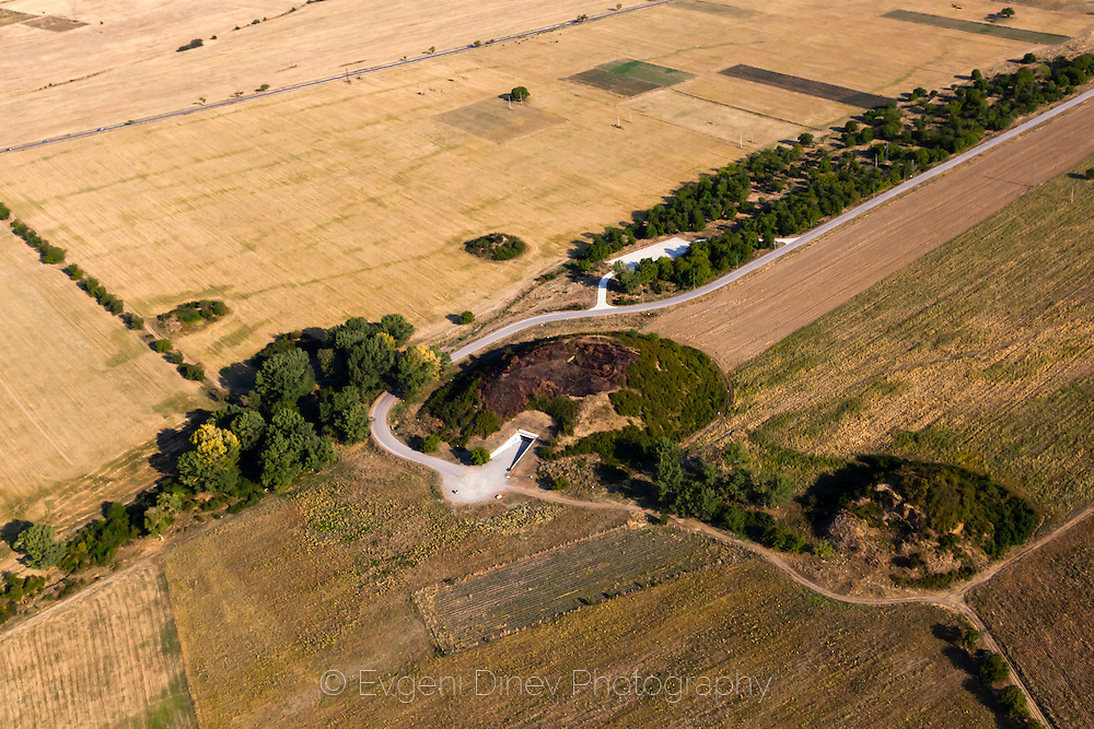 Aerial photography over the valley of Thracian Kings
