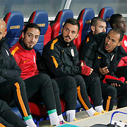 Galatasaray's players during their Turkish superleague soccer match Kardemir Karabukspor between Galatasaray Dr. Necmettin Seyhoglu stadium in Karabuk Turkey on Saturday 08 November 2014. Photo by Kurtulus YILMAZ/TURKPIX
